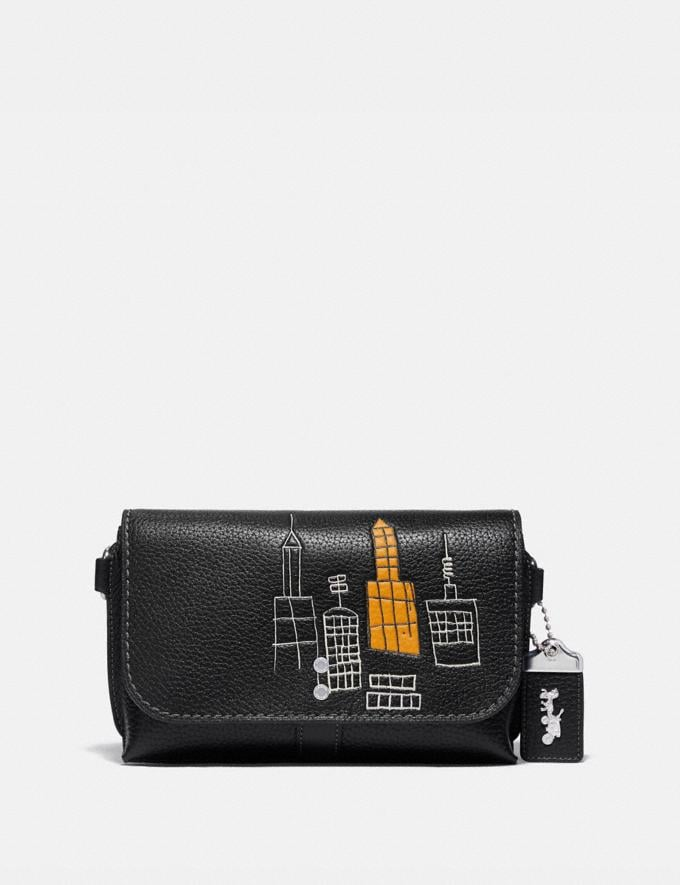 Coach Coach X Jean-Michel Basquiat Rogue Crossbody 20 Black New Men's New Arrivals Bestsellers