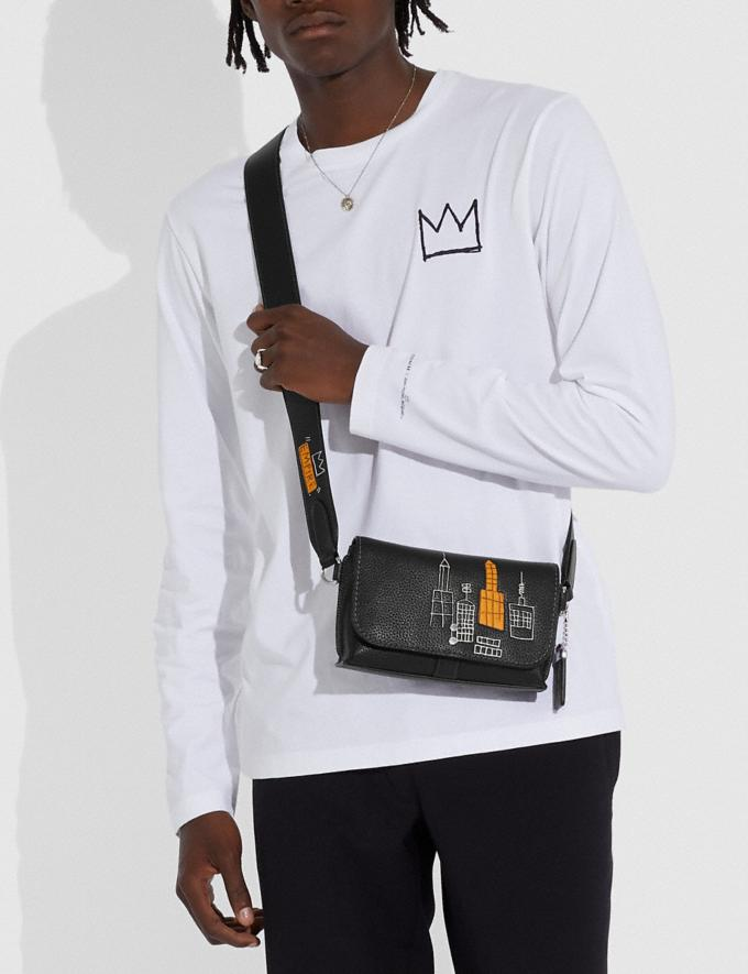 Coach Coach X Jean-Michel Basquiat Rogue Crossbody 20 Black New Men's New Arrivals Bestsellers Alternate View 4