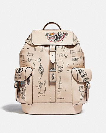 coach x jean-michel basquiat wells backpack