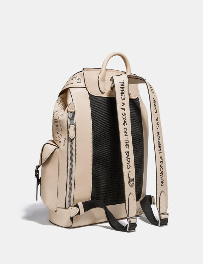 Coach Coach X Jean-Michel Basquiat Wells Backpack Nickel/Ivory Men Bags Backpacks Alternate View 1