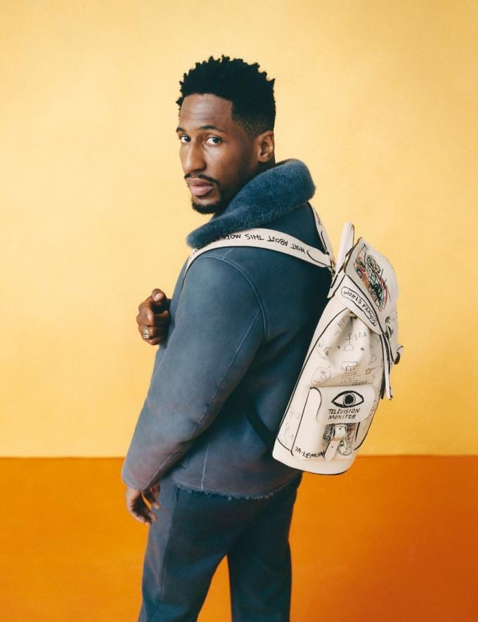Coach Coach X Jean-Michel Basquiat Wells Backpack Nickel/Ivory Men Bags Backpacks Alternate View 5