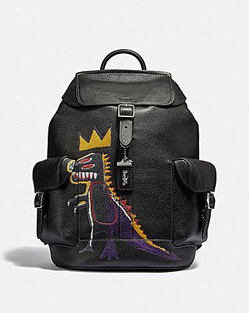 coach x jean-michel basquiat wells rucksack