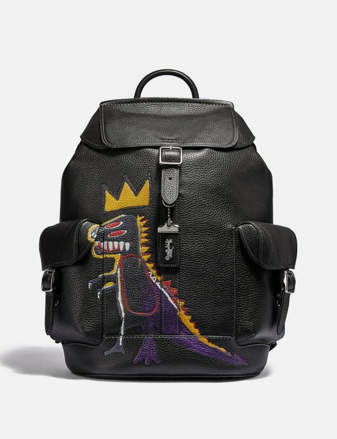 Coach Coach X Jean-Michel Basquiat Wells Backpack Nickel/Black Men Bags Backpacks