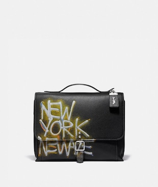 COACH X JEAN-MICHEL BASQUIAT ROGUE MESSENGER