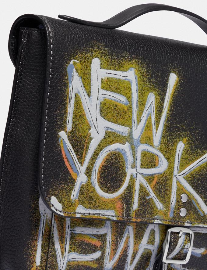 Coach Coach X Jean-Michel Basquiat Rogue Messenger Nickel/Black Men Bags Messenger Bags Alternate View 6