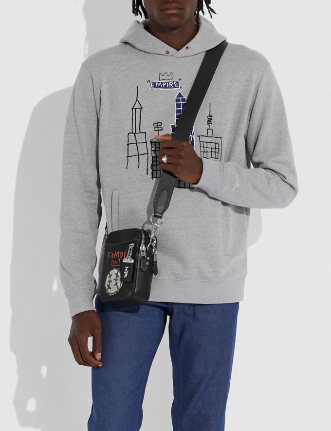 Coach Rogue Cruzado 12 Coach X Jean-Michel Basquiat Niquelado/Negro Ofertas Estacionales Hombre Bolsos Vistas alternativas 4