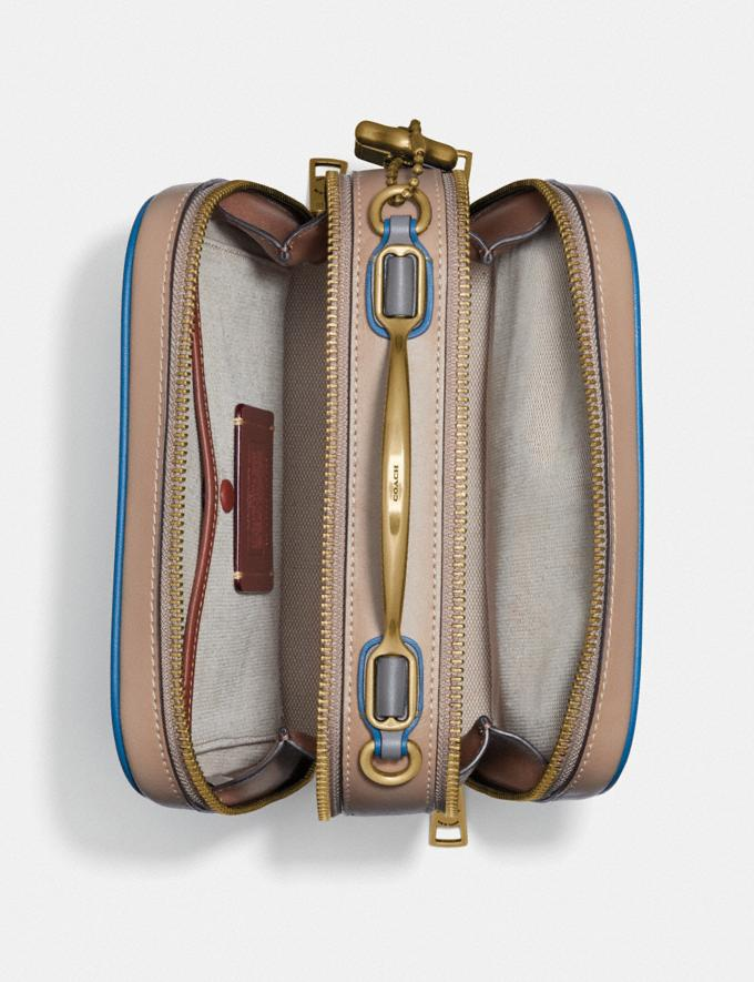 Coach Riley Lunchbox Bag in Colorblock Brass/Dark Denim Multi Women Bags Crossbody Bags Alternate View 2