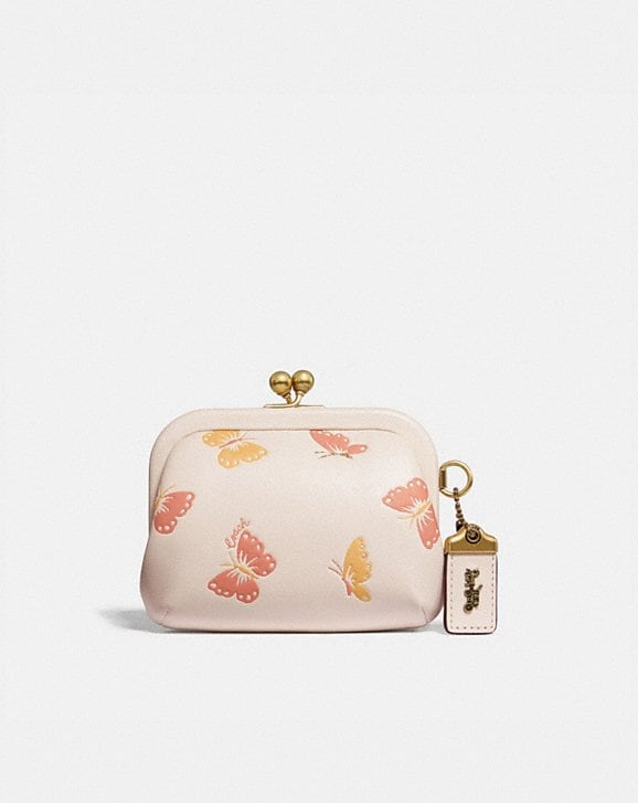 Coach KISSLOCK COIN PURSE WITH BUTTERFLY PRINT