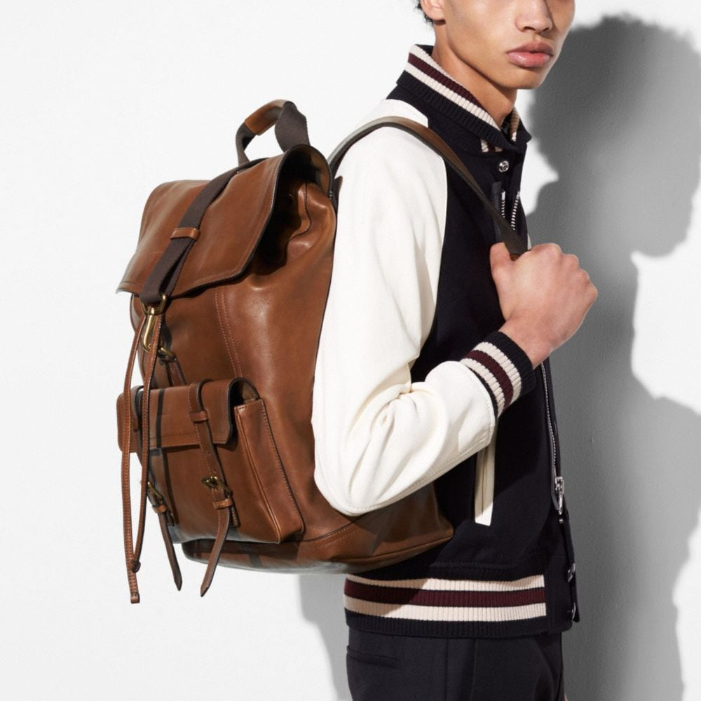Bleecker Backpack in Leather - Alternative Ansicht A1