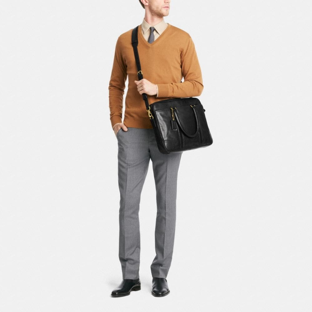 Bleecker Slim Brief in Leather - Alternate View M