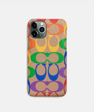 IPHONE 11 PRO CASE IN RAINBOW SIGNATURE CANVAS
