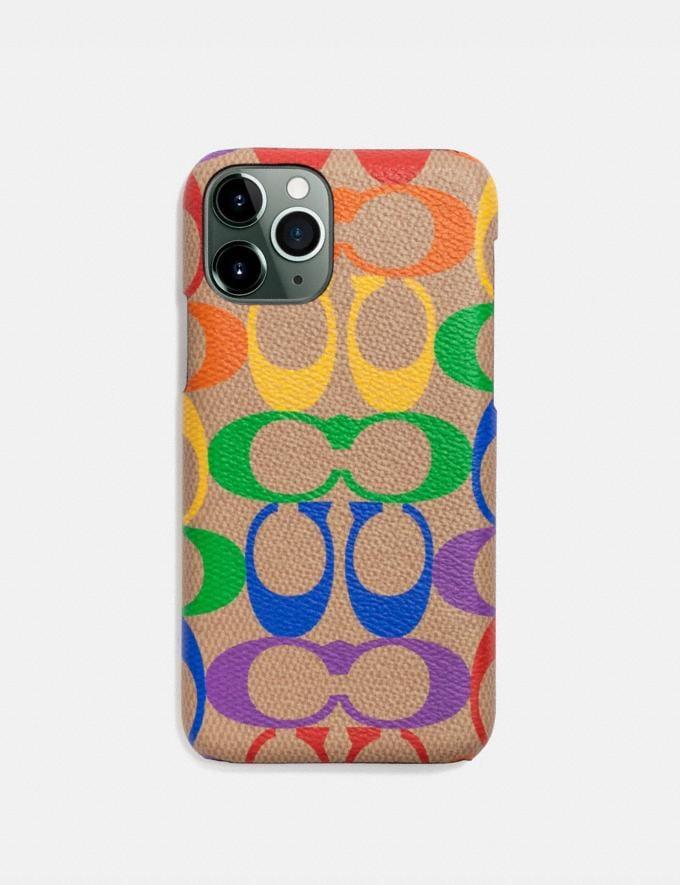 Coach iPhone 11 Pro Case in Rainbow Signature Canvas Multi Women Accessories Tech & Work