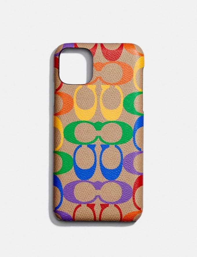 Coach iPhone 11 Pro Max Case in Rainbow Signature Canvas Multi Women Accessories Phone Cases