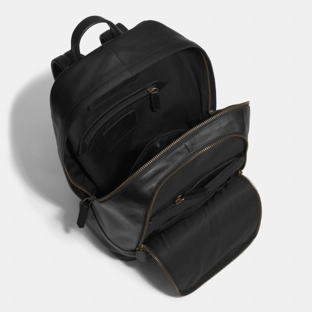 Bleecker Traveler Backpack in Leather - Alternate View A3