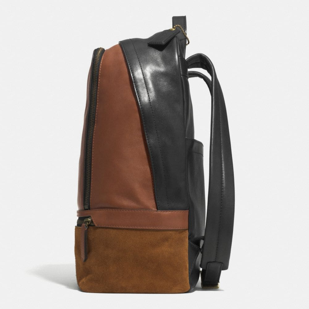 Bleecker Traveler Backpack in Mixed Leather - Alternate View A1