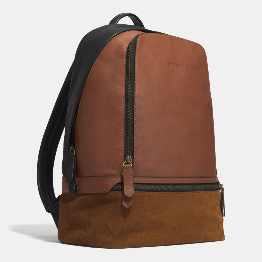BLEECKER TRAVELER BACKPACK IN MIXED LEATHER - Alternate View A2