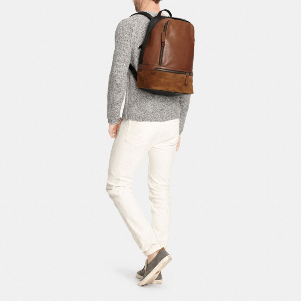 BLEECKER TRAVELER BACKPACK IN MIXED LEATHER - Alternate View M1