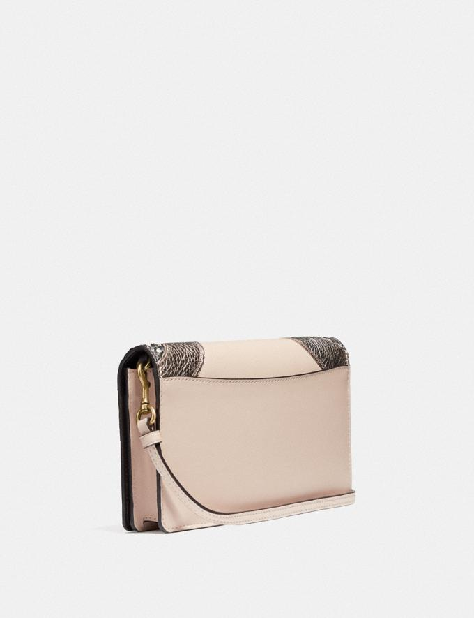Coach Hayden Foldover Crossbody Clutch With Wave Patchwork and Snakeskin Detail Ivory Multi/Brass New Women's New Arrivals Wallets & Wristlets Alternate View 1
