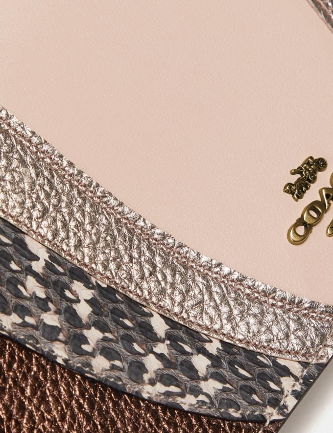 Coach Hayden Foldover Crossbody Clutch With Wave Patchwork and Snakeskin Detail Ivory Multi/Brass New Women's New Arrivals Wallets & Wristlets Alternate View 4