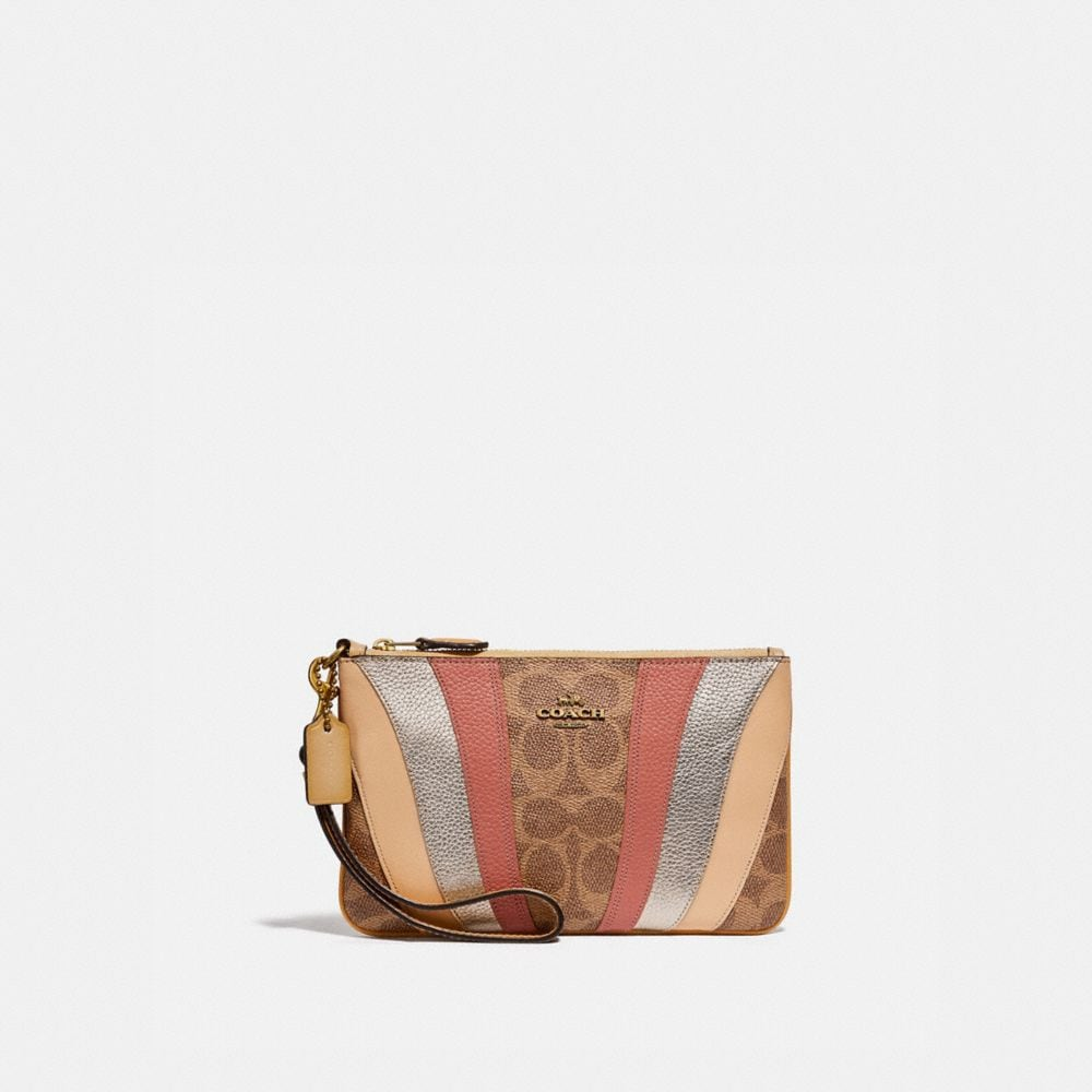 SMALL WRISTLET IN SIGNATURE CANVAS WITH WAVE PATCHWORK