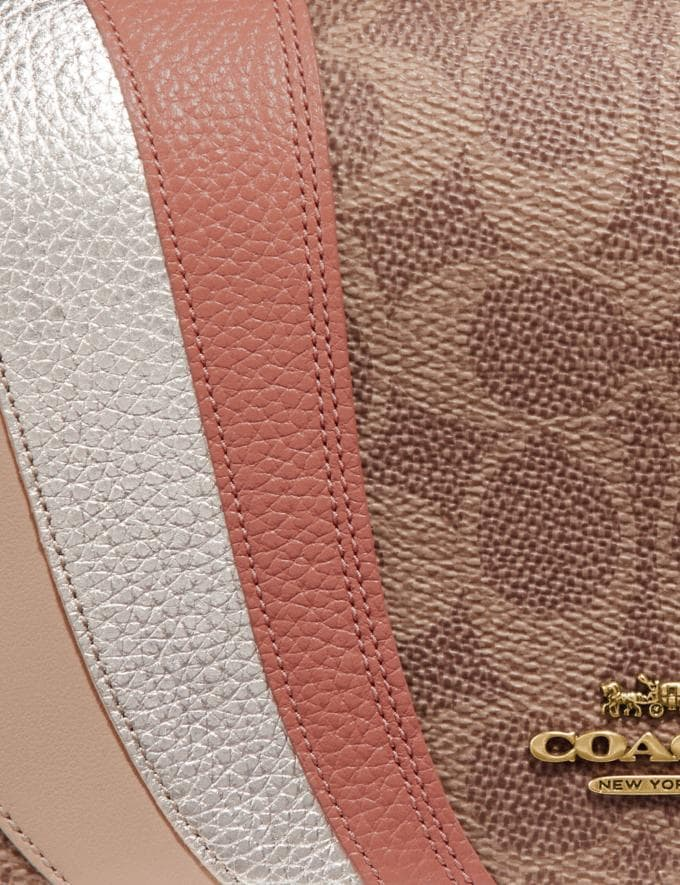 Coach Hayden Foldover Crossbody Clutch in Signature Canvas With Wave Patchwork Tan Multi/Brass New Featured Women New Top Picks Alternate View 4