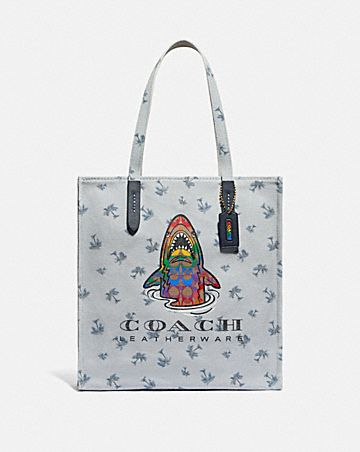 tote with rainbow signature sharky