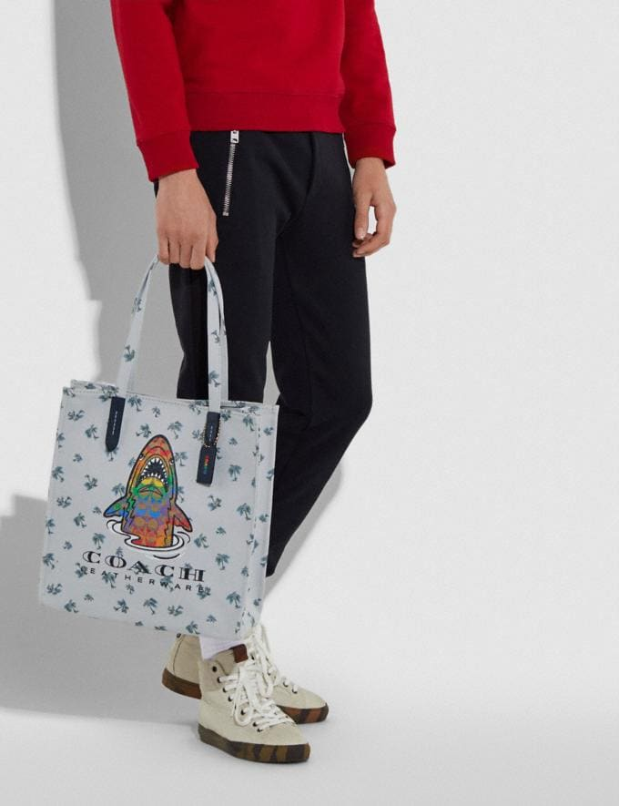 Coach Tote With Rainbow Signature Sharky Multi New Women's New Arrivals Alternate View 5