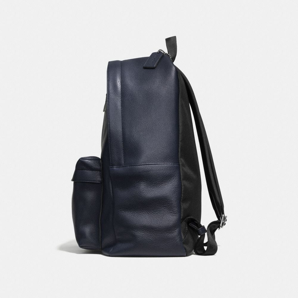 CAMPUS BACKPACK IN REFINED PEBBLE LEATHER - Alternate View A1