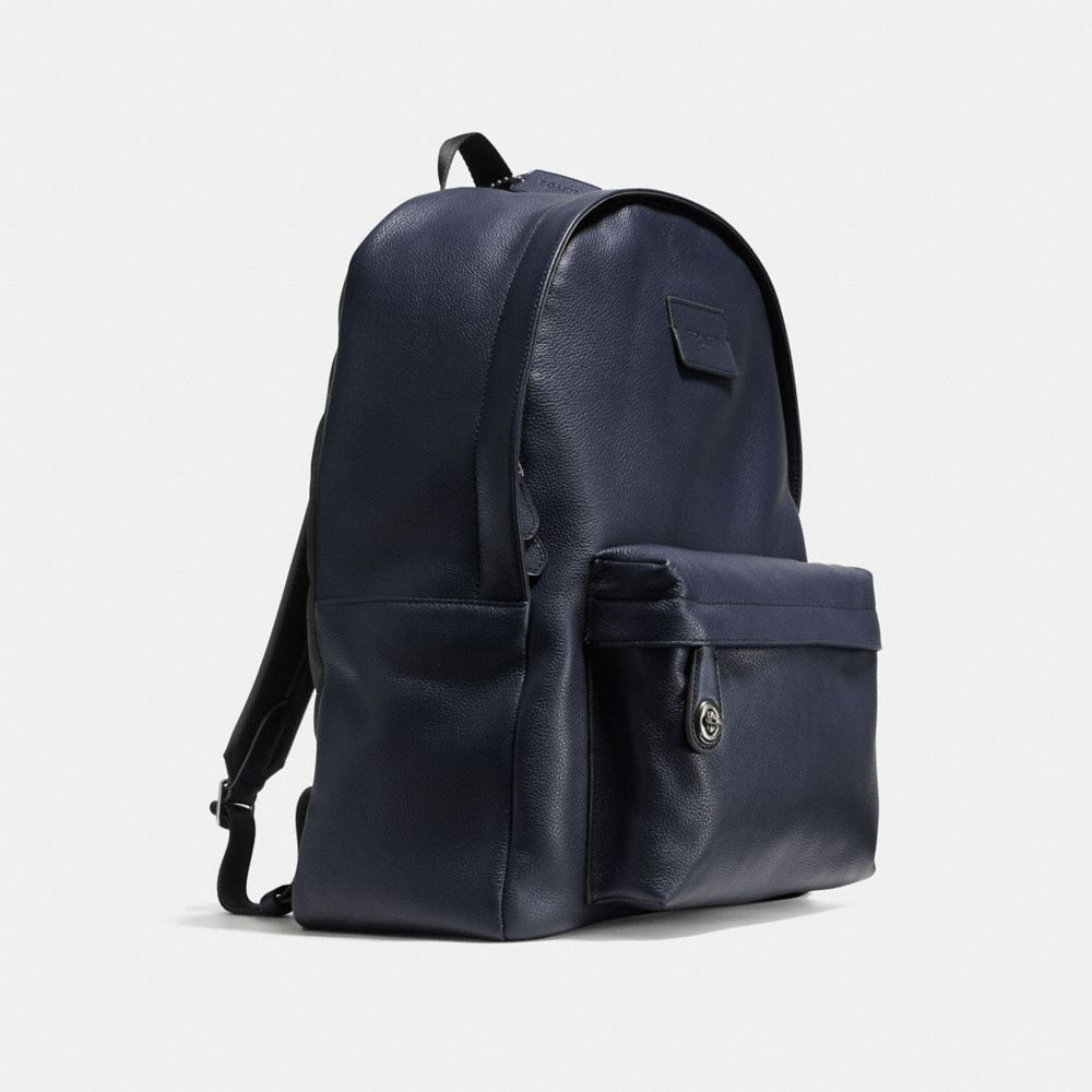 Campus Backpack in Refined Pebble Leather - Autres affichages A2