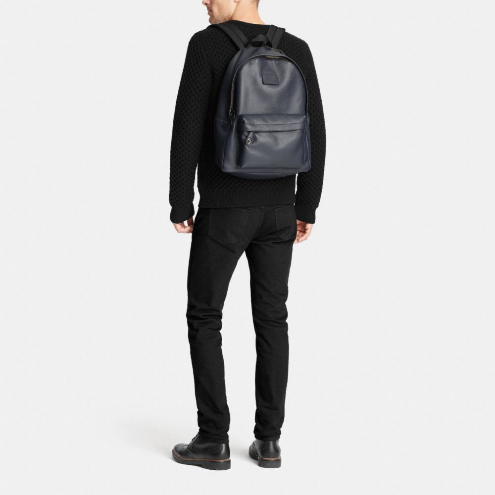 CAMPUS BACKPACK IN REFINED PEBBLE LEATHER - Alternate View M1
