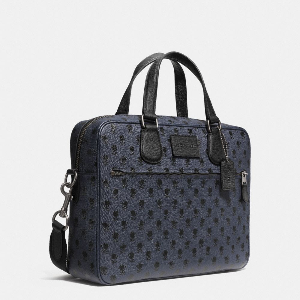 COACH HUDSON BAG IN PRINTED CROSSGRAIN LEATHER - Alternate View A2