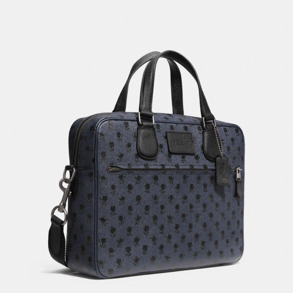 Coach Hudson Bag in Printed Crossgrain Leather - Alternate View A2