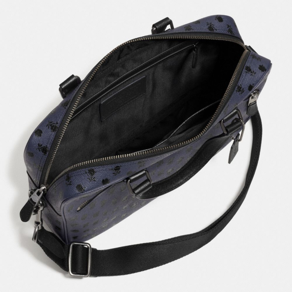 Coach Hudson Bag in Printed Crossgrain Leather - Alternate View A3