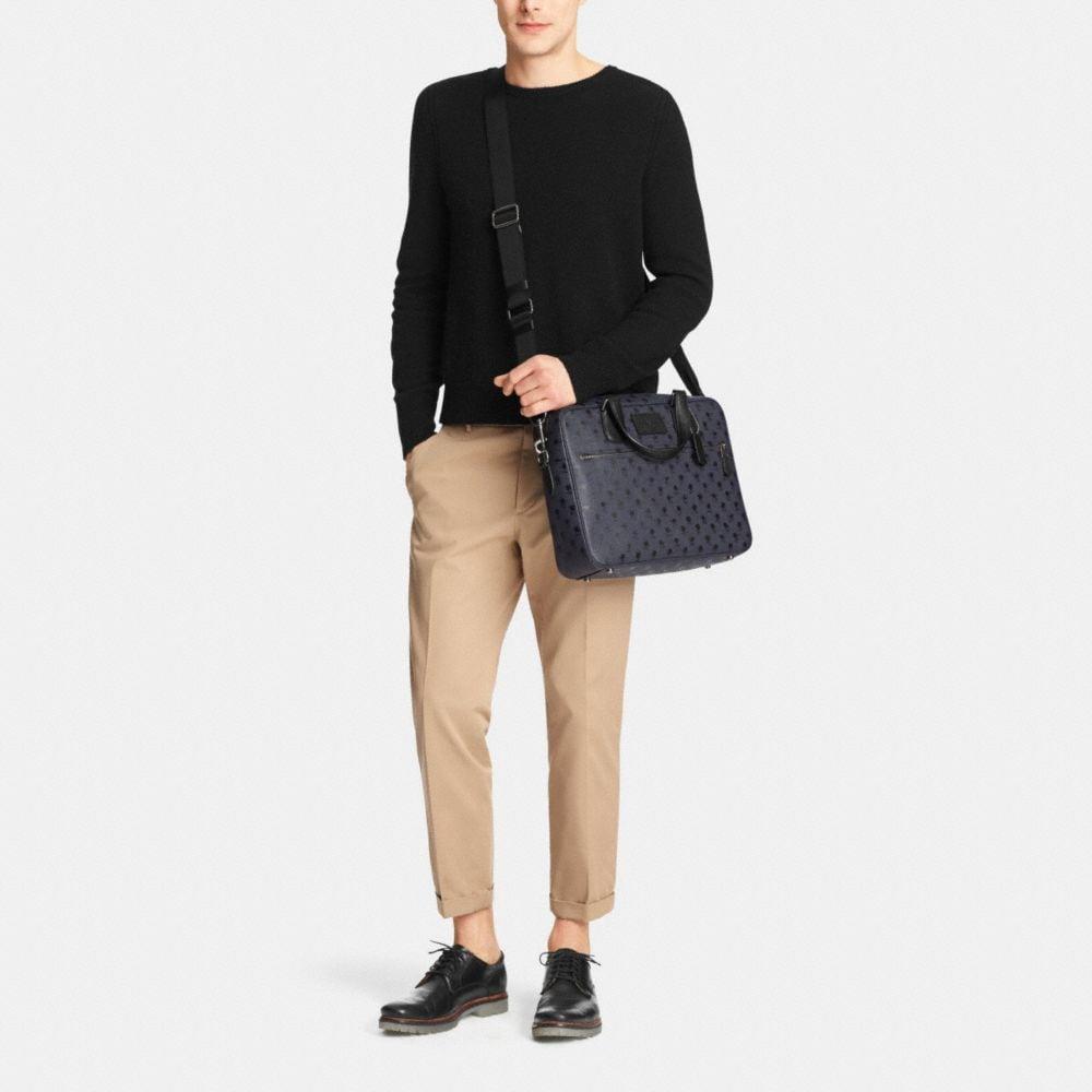 Coach Hudson Bag in Printed Crossgrain Leather - Alternate View M