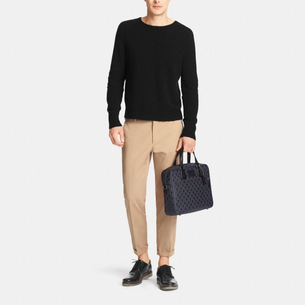Coach Hudson Bag in Printed Crossgrain Leather - Alternate View M2