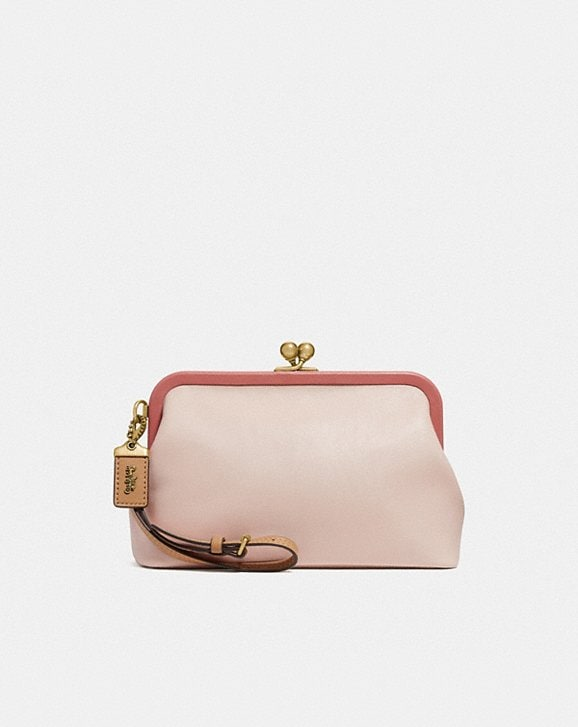 Coach KISSLOCK CLUTCH IN COLORBLOCK