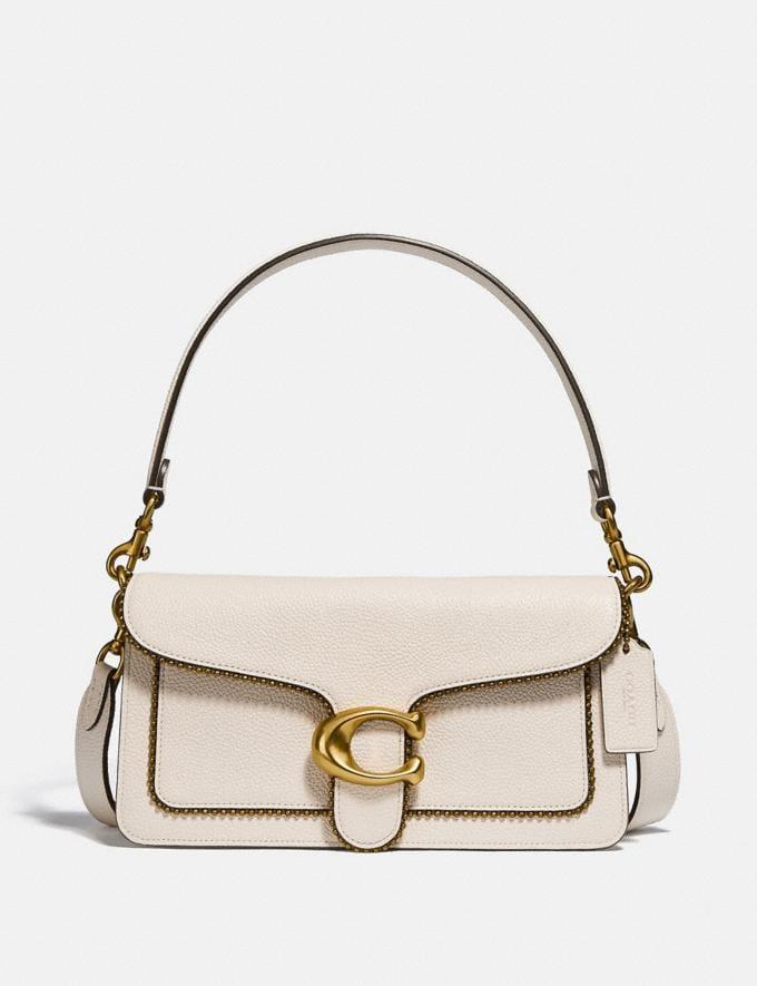 Coach Tabby Shoulder Bag 26 With Beadchain Brass/Chalk Women Bags Shoulder Bags