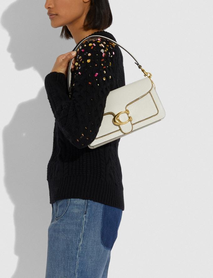Coach Tabby Shoulder Bag 26 With Beadchain Brass/Chalk Women Bags Shoulder Bags Alternate View 5