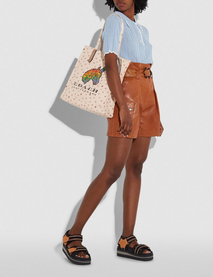 Coach Tote With Rainbow Signature Uni Multi New Featured Coach Pride Collection Alternate View 4