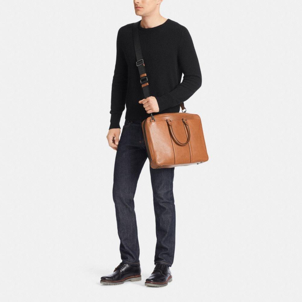Metropolitan Slim Brief in Sport Calf Leather - Alternate View M