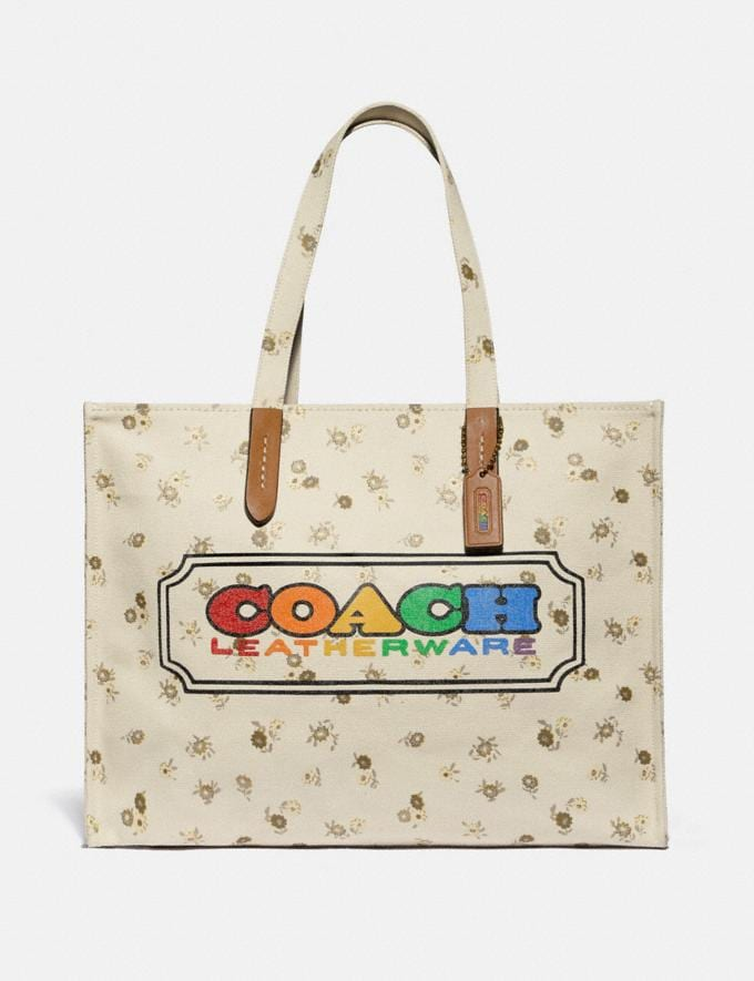 Coach Tote With Rainbow Coach Badge Multi New Featured Coach Pride Collection