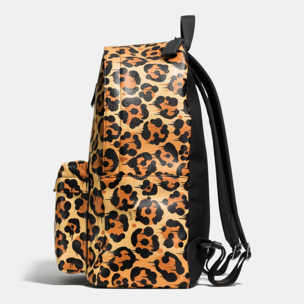 CAMPUS BACKPACK IN PRINTED LEATHER - Alternate View A1