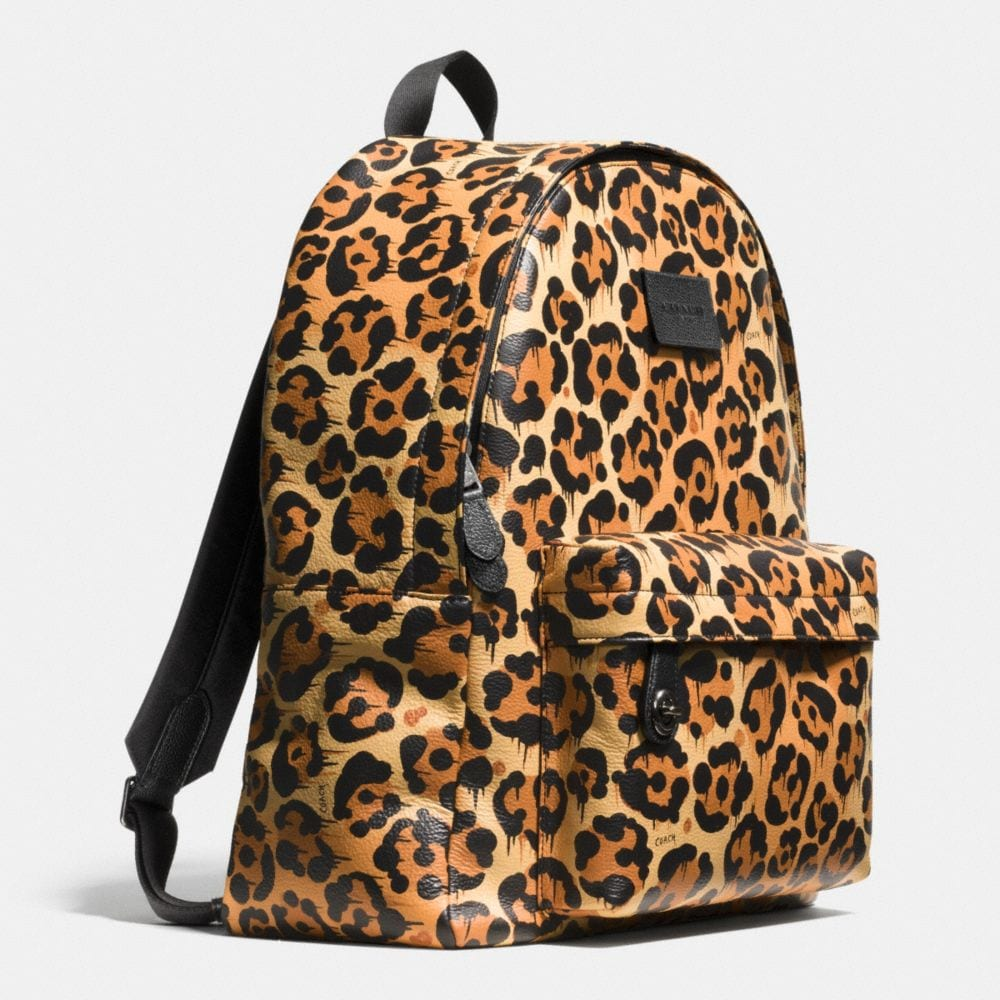 CAMPUS BACKPACK IN PRINTED LEATHER - Alternate View A2
