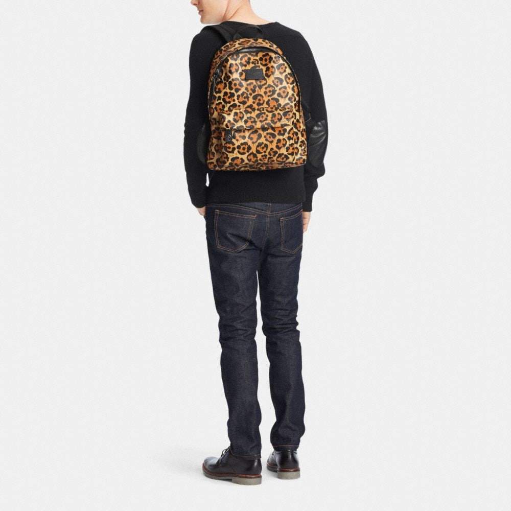 CAMPUS BACKPACK IN PRINTED LEATHER - Alternate View M1