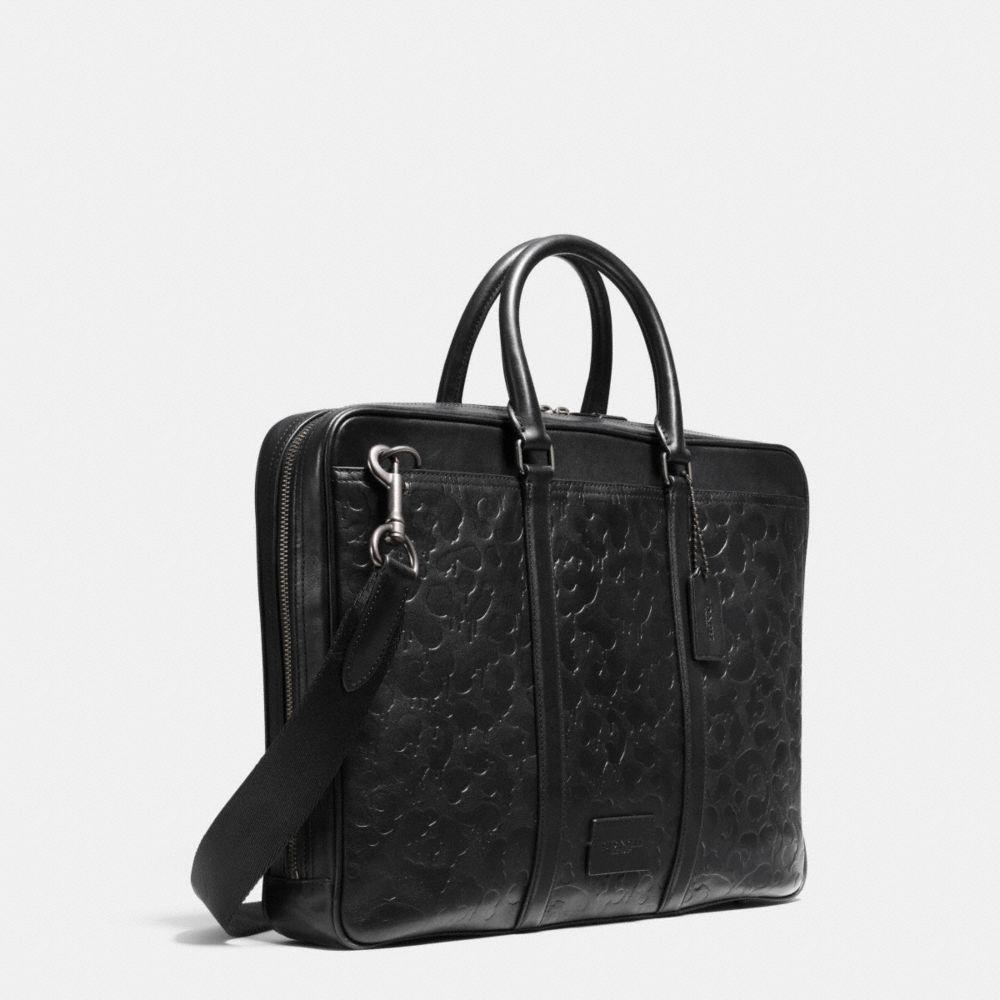 Metropolitan Brief in Wild Beast Embossed Leather - Alternate View A2