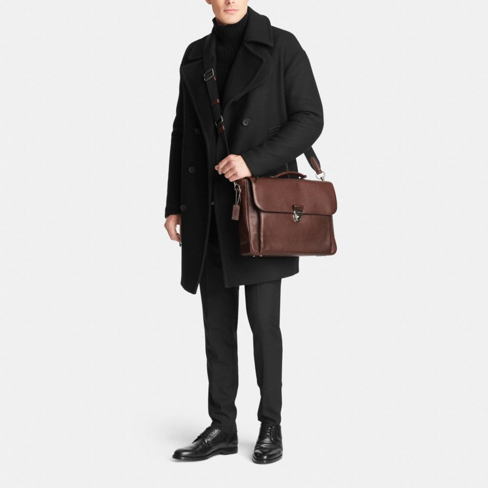 Metropolitan Briefcase in Sport Calf Leather - Alternate View M1