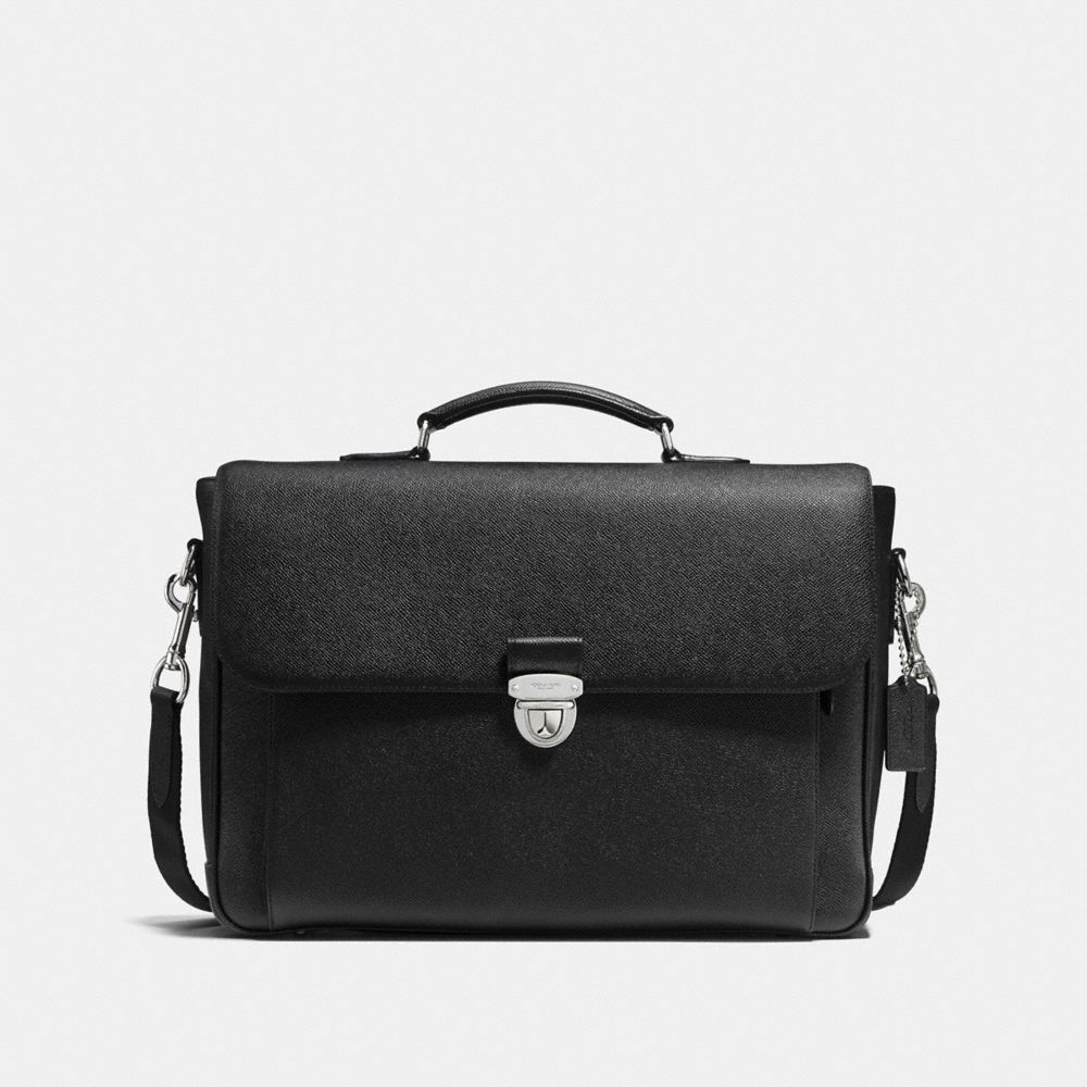 METROPOLITAN BRIEFCASE IN CROSSGRAIN LEATHER
