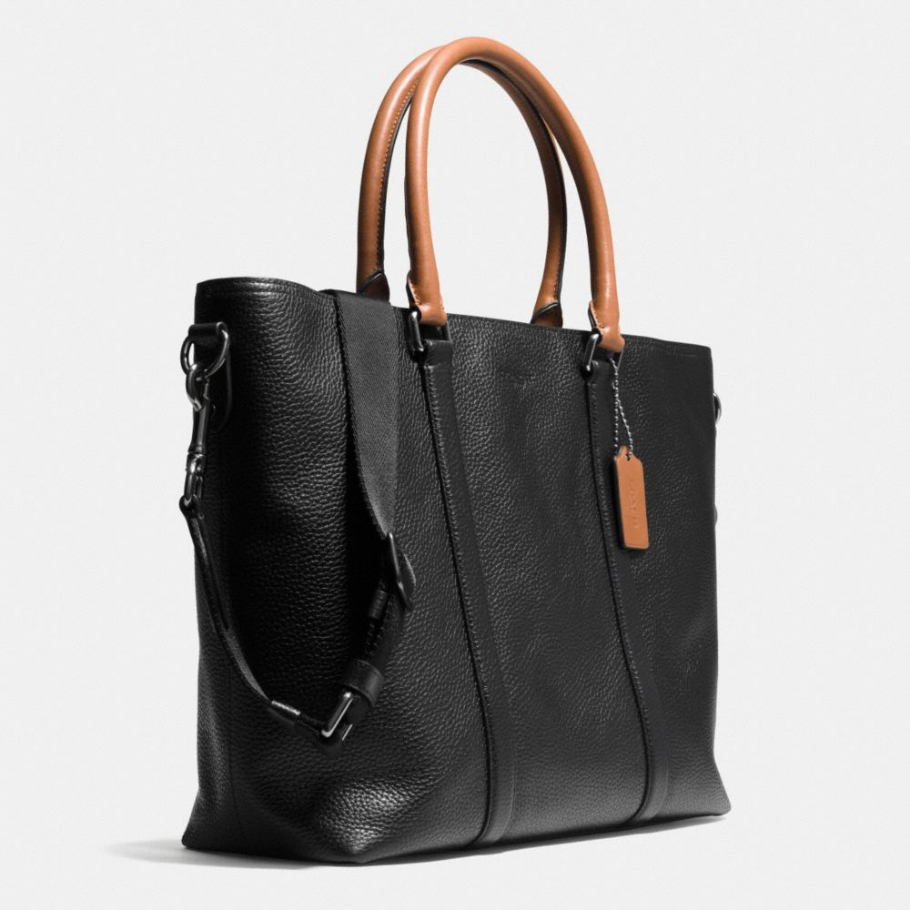 Metropolitan Tote in Contrast Pebble Leather - Alternate View A2