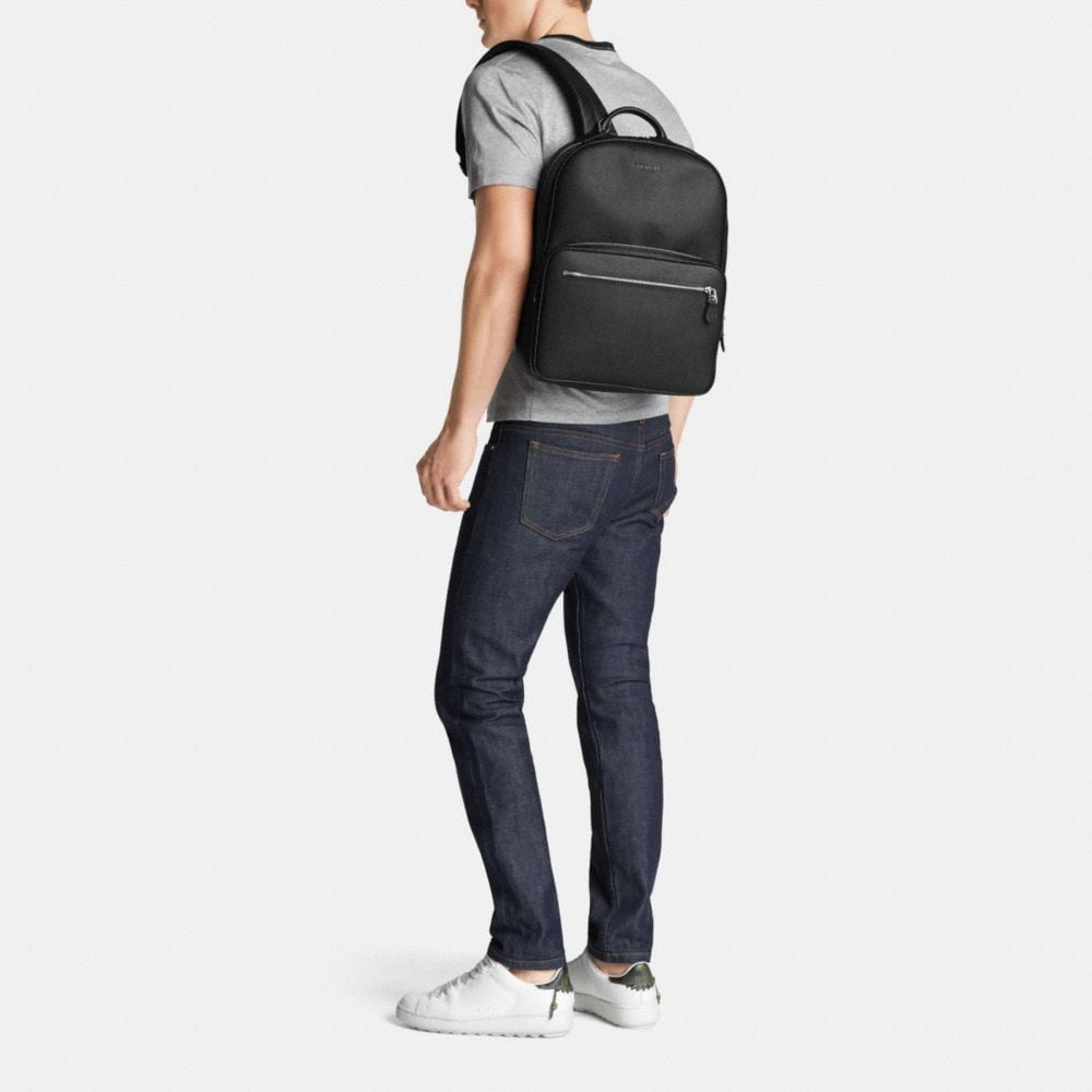 Hudson Backpack in Crossgrain Leather - Alternate View M