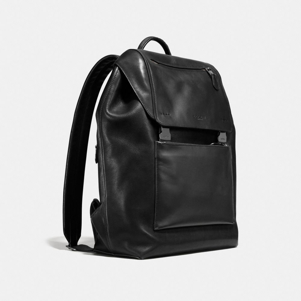 Manhattan Backpack in Leather - Alternate View A2